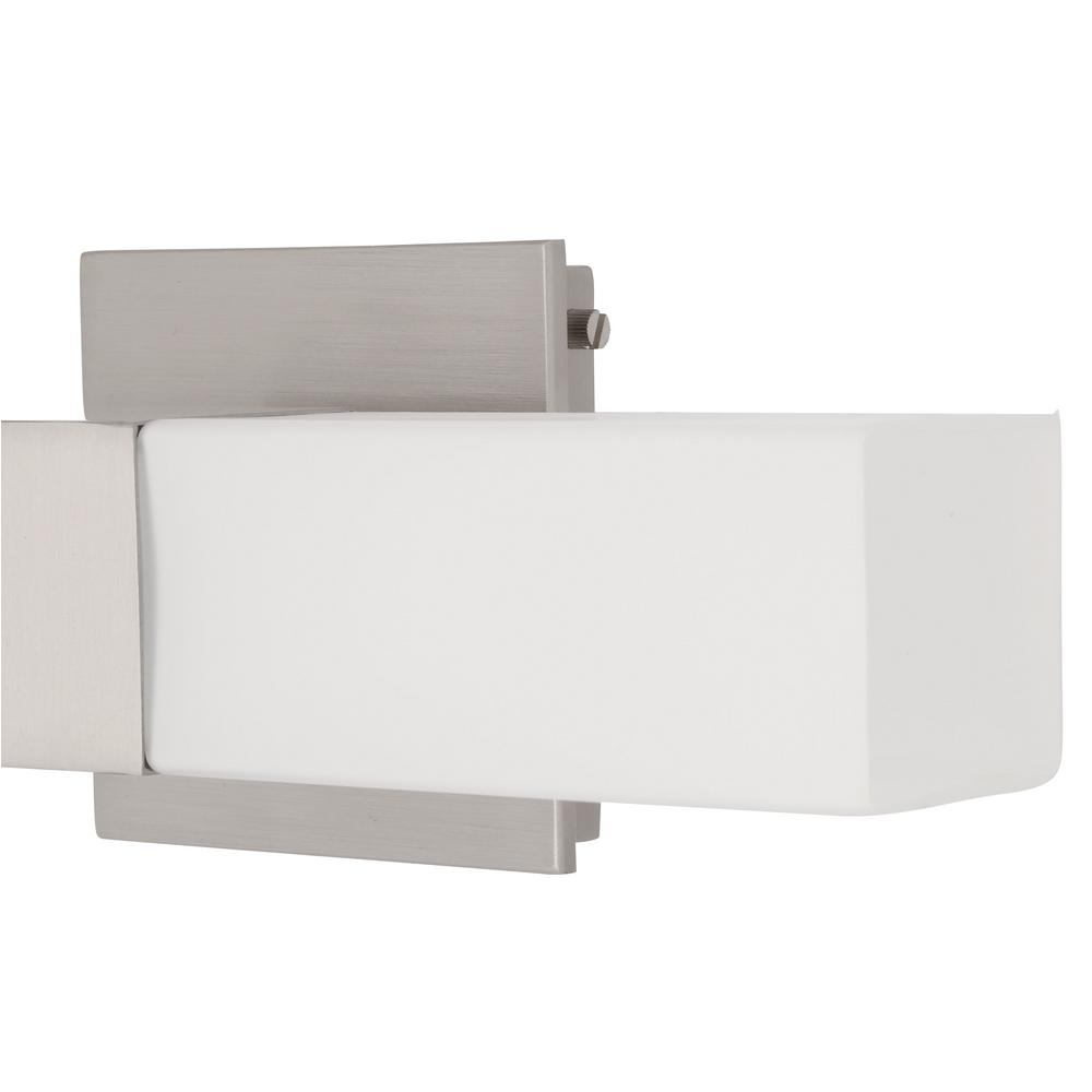 Rectangular glass shade with an opaque white finish