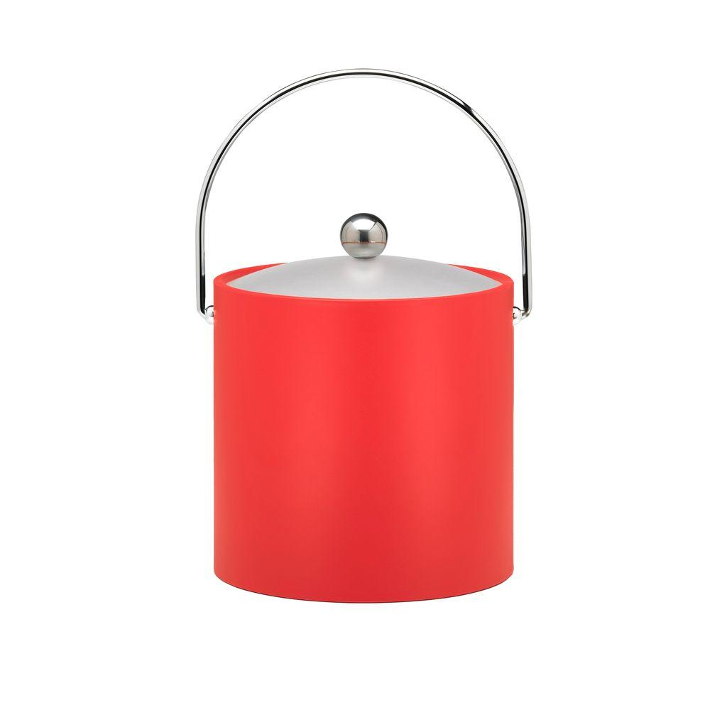 Kraftware 3 Qt. Insulated Ice Bucket in Red