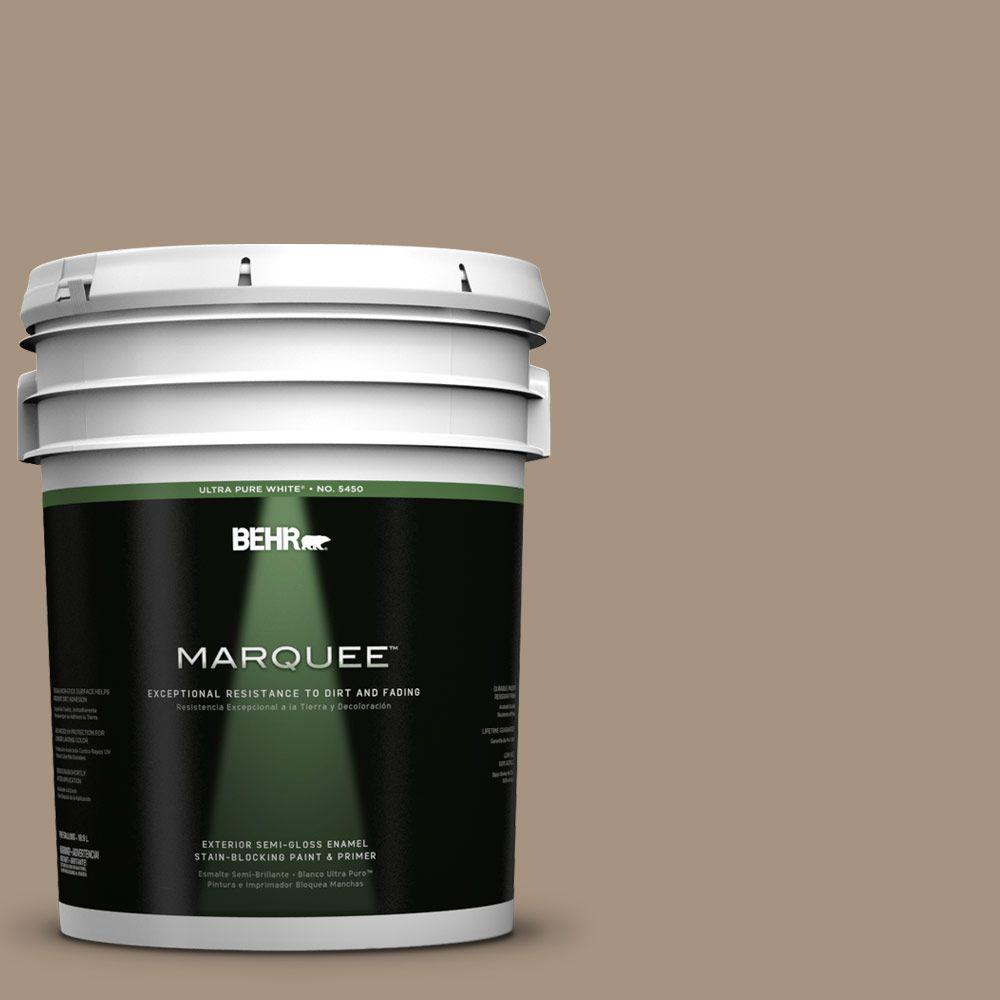 BEHR MARQUEE 5-gal. #PPU7-5 Pure Earth Semi-Gloss Enamel Exterior Paint