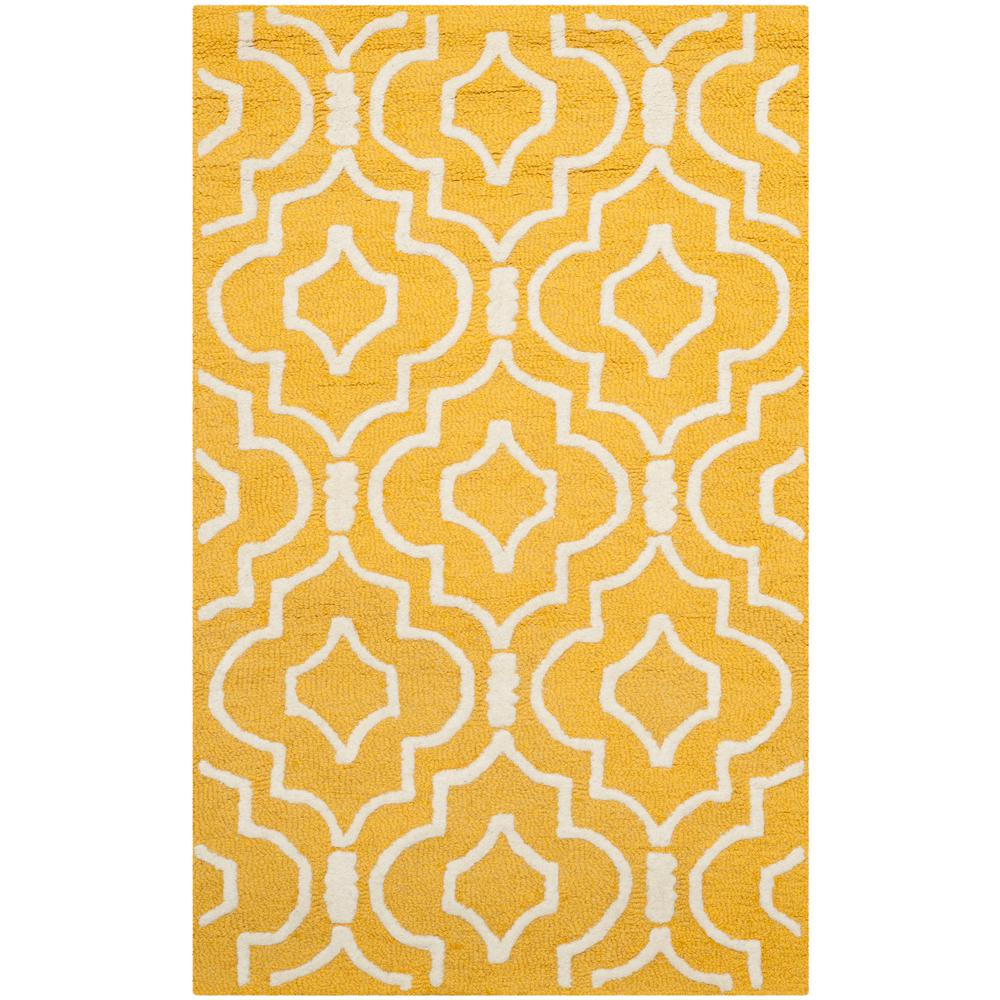 Cambridge Gold/Ivory 2 ft. 6 in. x 4 ft. Area Rug