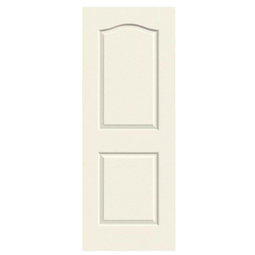 JELD-WEN 24 in. x 80 in. Molded Textured 2-Panel Eyebrow French