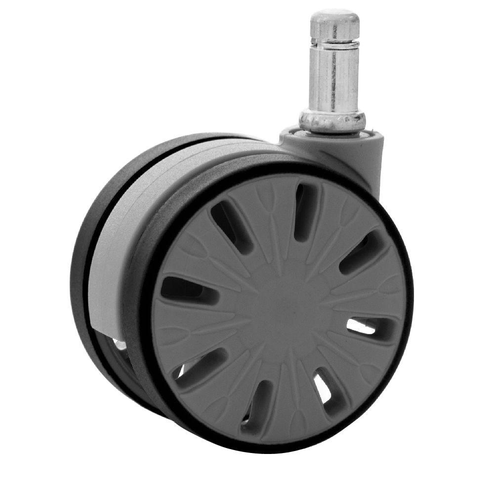 2-9/16 in. Office Chair Caster Wheels Stem 11 mm x 22