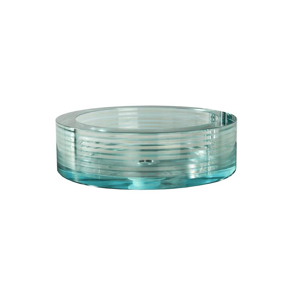 Filament Design Cantrio Crystal Layered Cylindrical Glass Vessel Sink in Clear