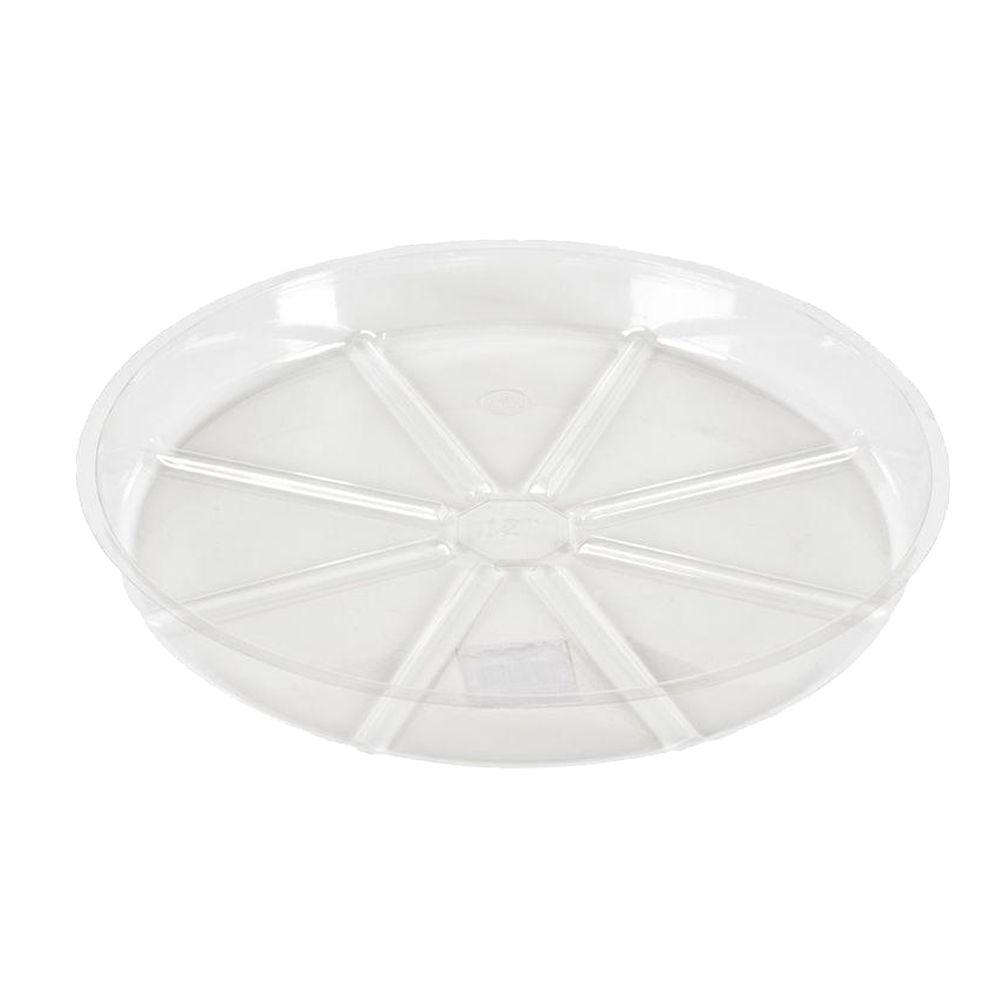 Vigoro 6 in. Clear Plant Saucer-VS6HBDI - The Home Depot