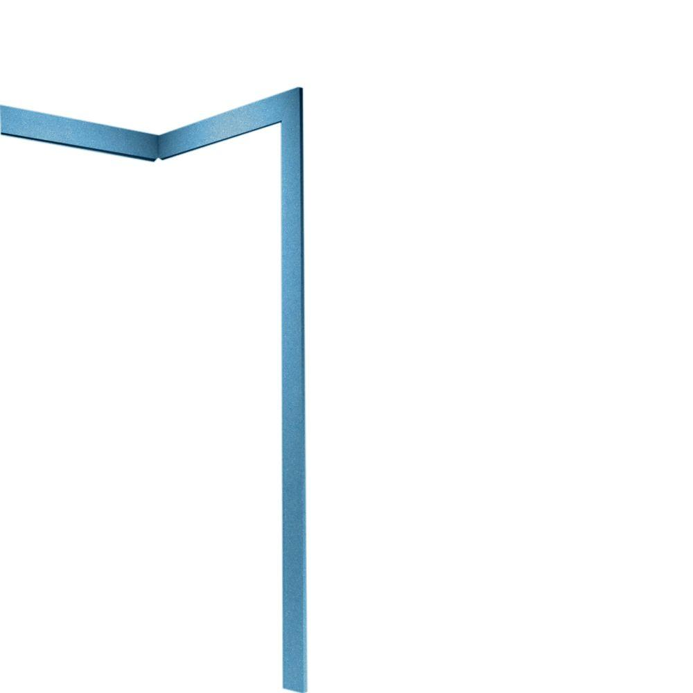 Swan Easy Up Adhesive Solid Surface Tub Wall Trim Kit and Corner Molding in Tahiti Blue-DISCONTINUED