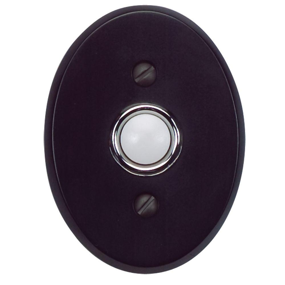 Atlas Homewares Traditionalist Collection 3 in. Black Door Bell-DB646-BL - The