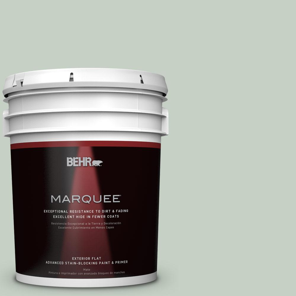 BEHR MARQUEE 5-gal. #N400-2 Frosted Sage Flat Exterior Paint