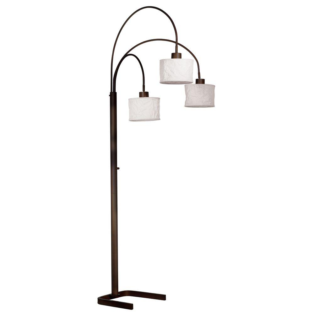 Kenroy Home Crush 82 in. 3-Light Oil-Rubbed Bronze Arc Lamp-30674ORB -