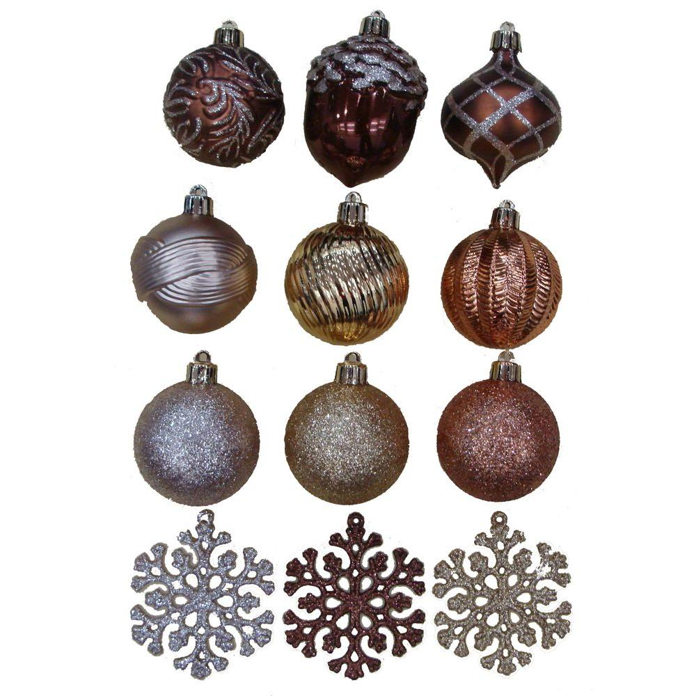 Martha Stewart Living Merry Metallic 2 in. Christmas Ornaments (101-Pack)