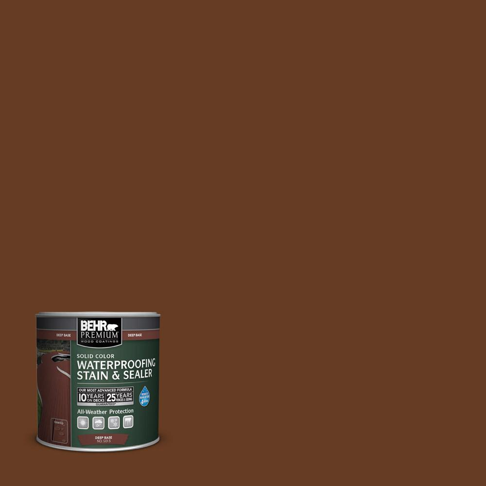 8 oz. #SC110 Chestnut Solid Color Waterproofing Stain and Sealer Sample
