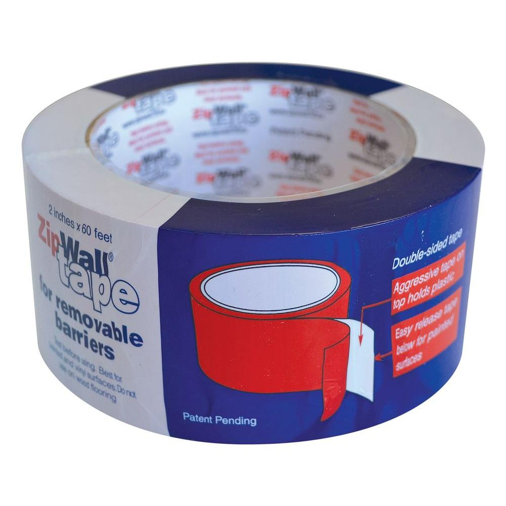 Duct Tape, Glues & Epoxy: ZipWall Adhesives & Fillers 2 in. x 60 ft. T260 Tape for ZipWall Dust Barriers Blues 206618