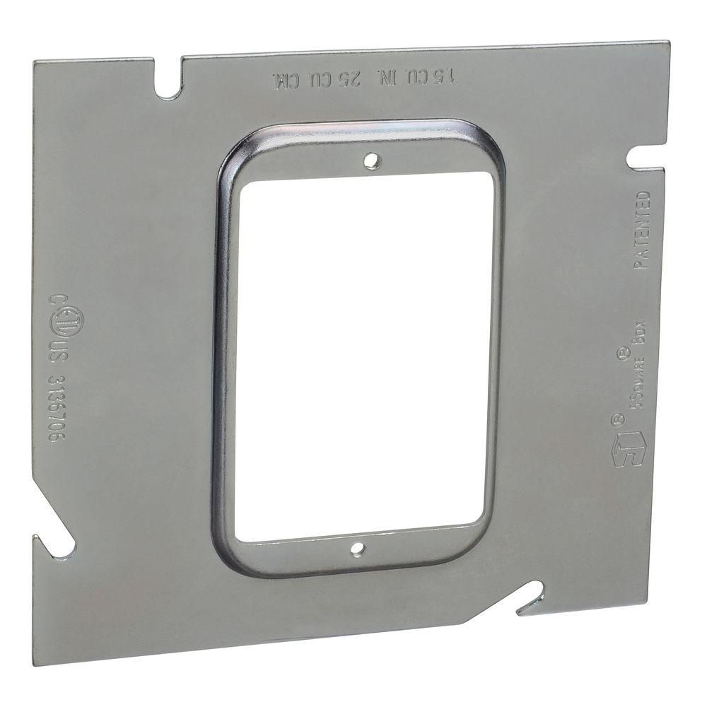 Raco 4 In Square Two Device Mud Ring Flat 791 The Home