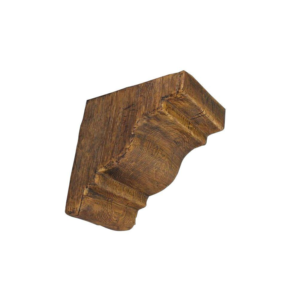 null 12 in. x 12 in. x 7-3/4 in. Prefinished Polyurethane Rustic Faux Wood Corbel