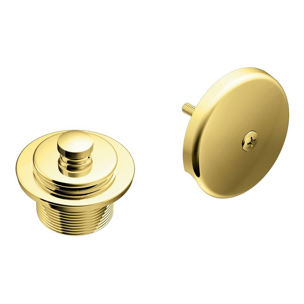 MOEN Tub and Shower Drain Covers in Polished Brass