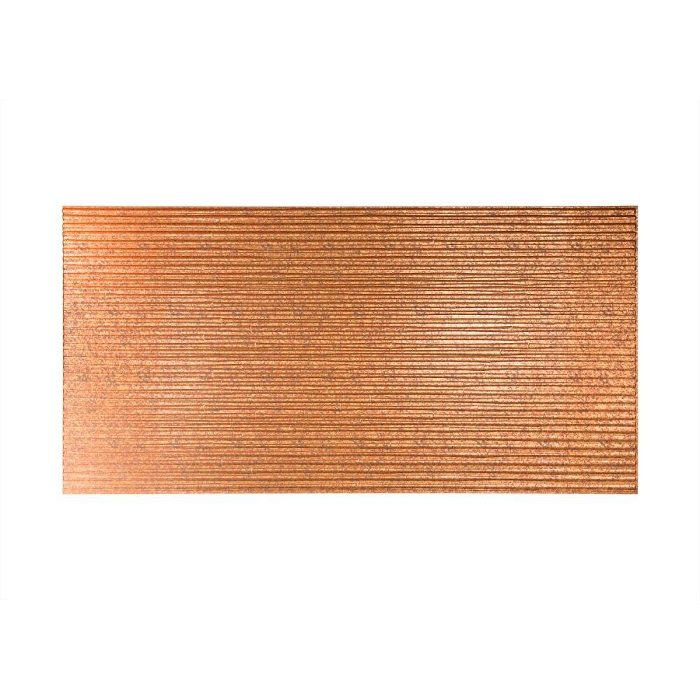 PVC Wall Tiles: Fasade Building Materials Bamboo 96 in. x 48 in. Decorative Wall Panel in Cracked Copper, Metallics S59-19
