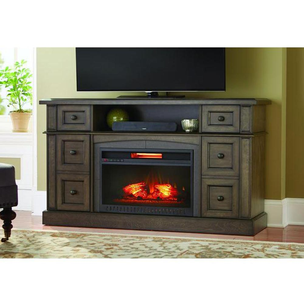 Electric Fireplace Heaters Home Depot: Home Decorators Collection Bellevue Park 59 In. Media