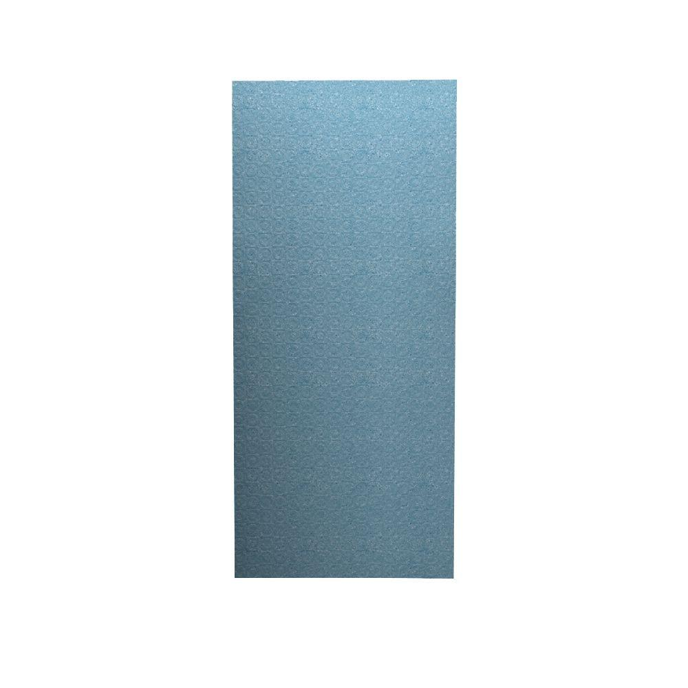 Swan Barcelona 1/4 in. x 36 in. x 96 in. One Piece Easy Up Adhesive Shower Wall in Tahiti Blue-DISCONTINUED