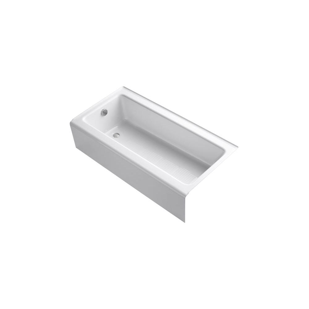 Bellwether 5 ft. Left Drain Bathtub with Integral Farmhouse Apron in