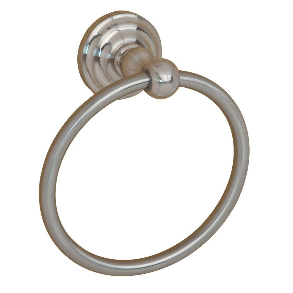 Barclay Products Macedonia Towel Ring in Satin Nickel-ITR2100-SN - The Home