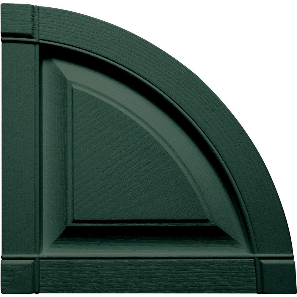 Builders Edge 12 in. x 12 in. Raised Panel Design Forest Green Quarter Round Tops Pair #028-DISCONTINUED