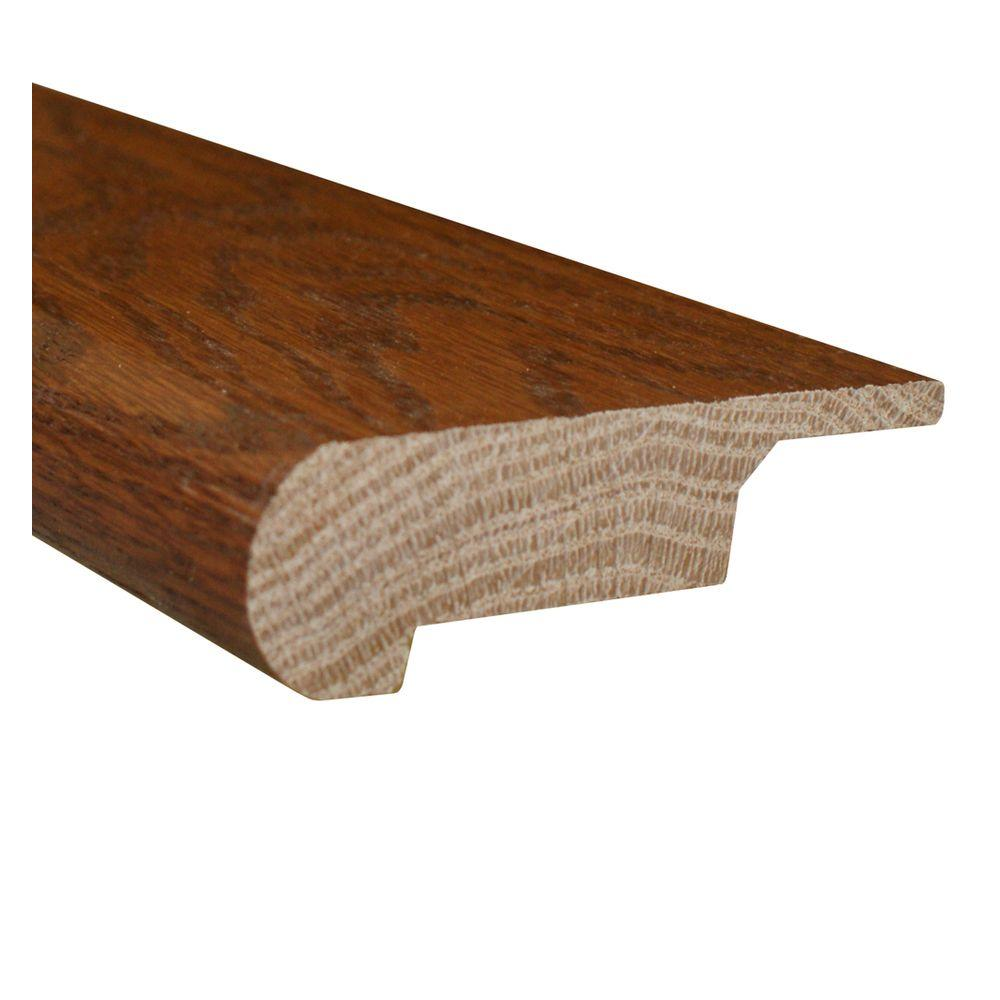 null Oak Mink 0.81 Thick x 3 in. Wide x 78 in. Length Hardwood Lipover Stair Nose Molding