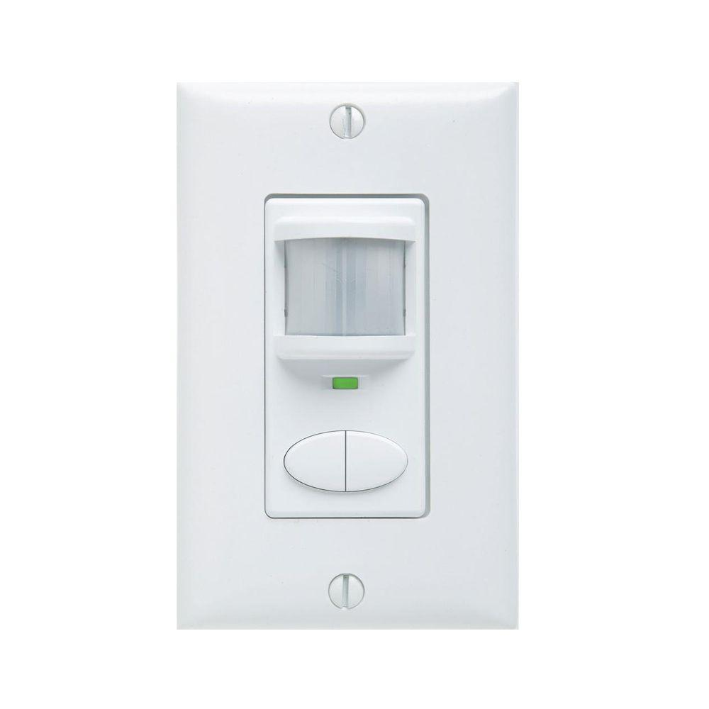 Lithonia Lighting Passive Dual Technology Dual Relay Vacancy Motion Sensing Wall Switch - White