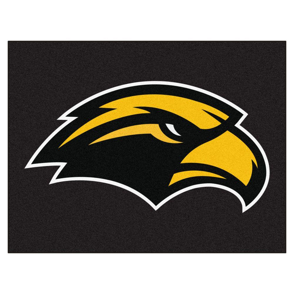 NCAA University of Southern Mississippi Black 2 ft. 10 in. x