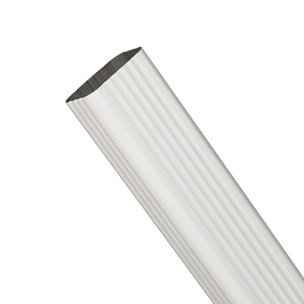 15 in. White Steel 2 in. x 3 in. Downspout Extension