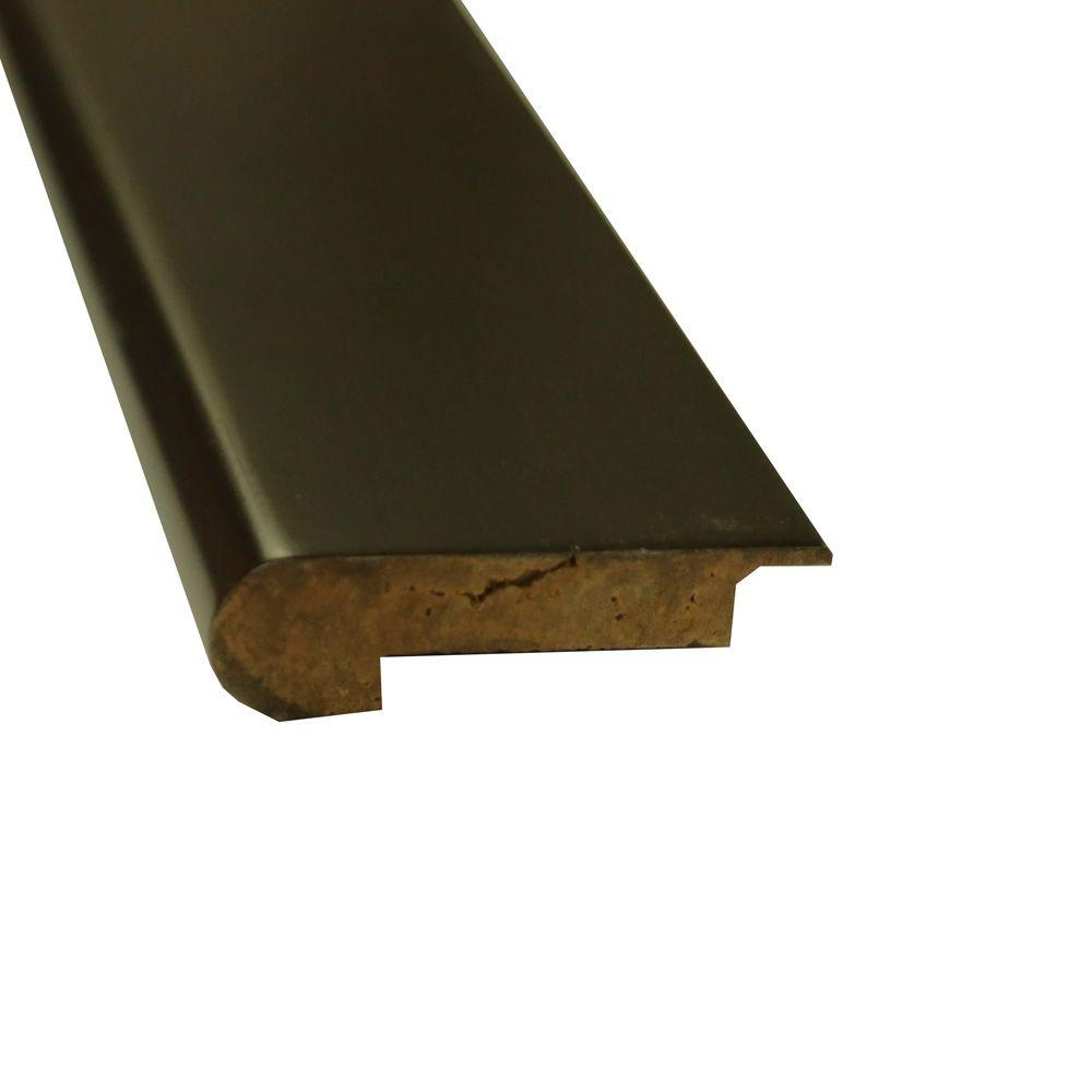 Stained Ebony 1 in. Thick x 3-5/8 in. Wide x 72-3/4 in. Length Strand Bamboo Overlap Stair Nose Molding