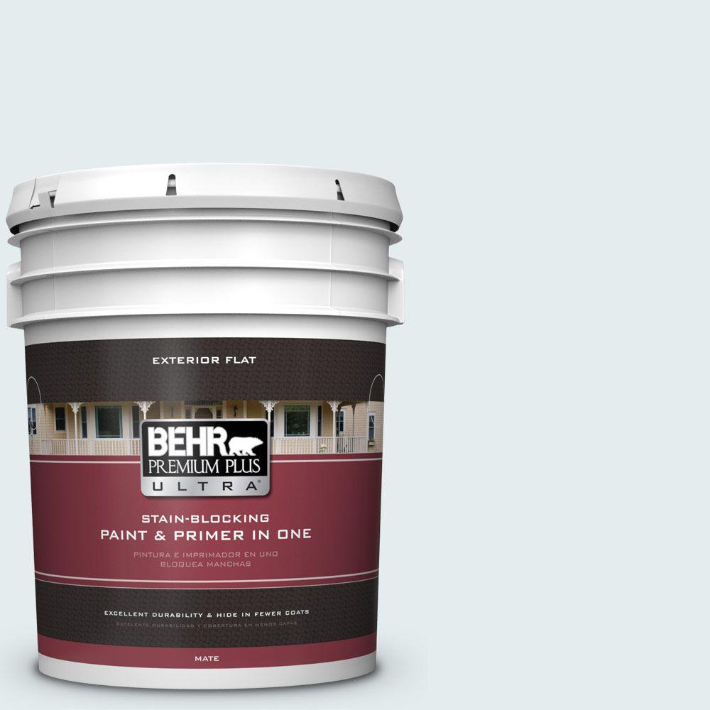 5-gal. #530E-1 White Sapphire Flat Exterior Paint