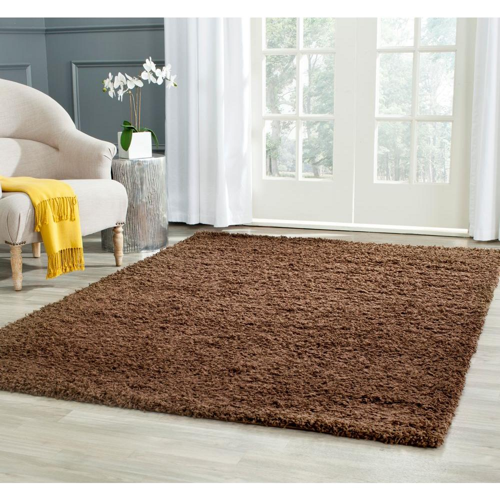 Athens Shag Brown 8 ft. x 10 ft. Area Rug