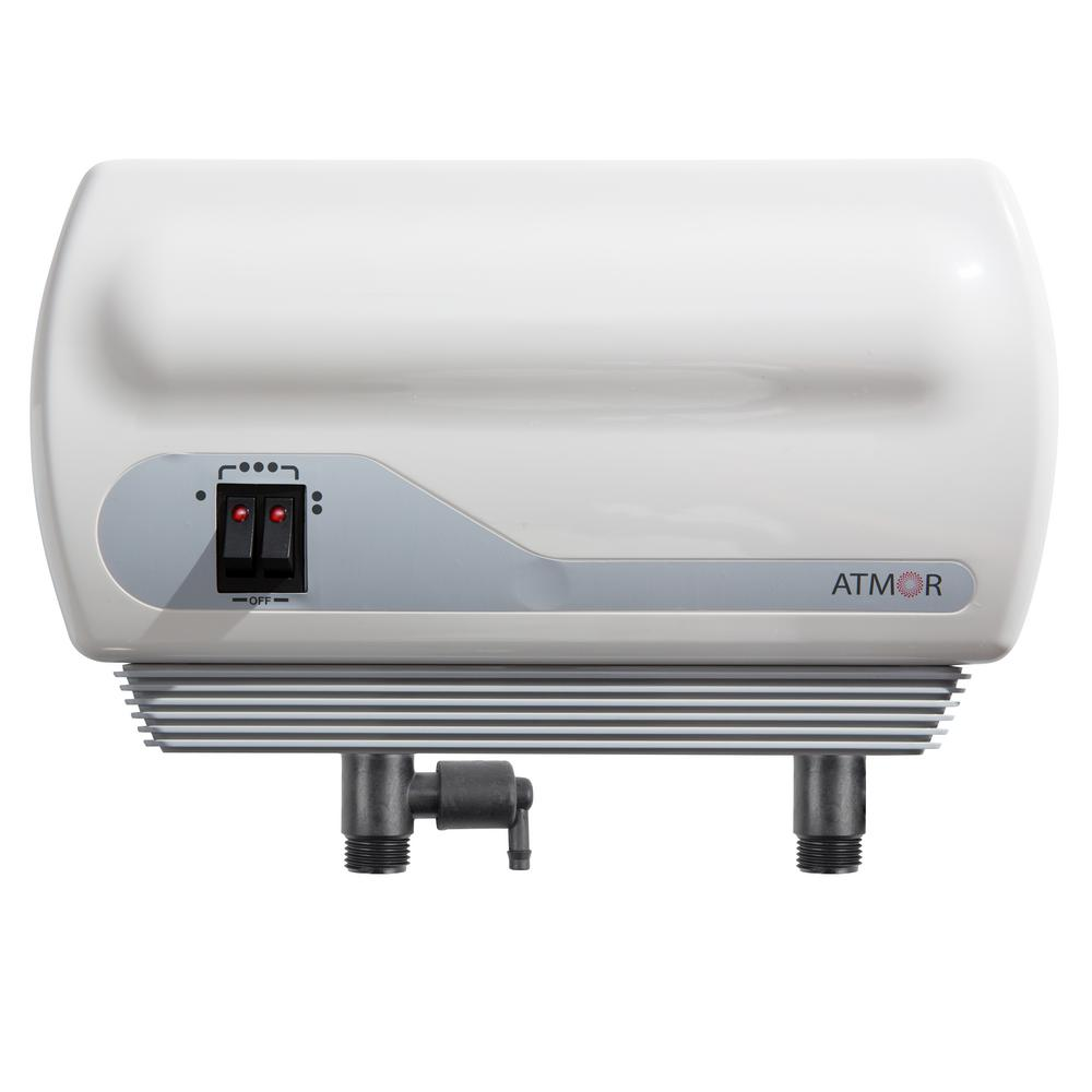 3kW/110V Single Sink 0.5 GPM Electric Tankless Water Heater, Pressure Relief