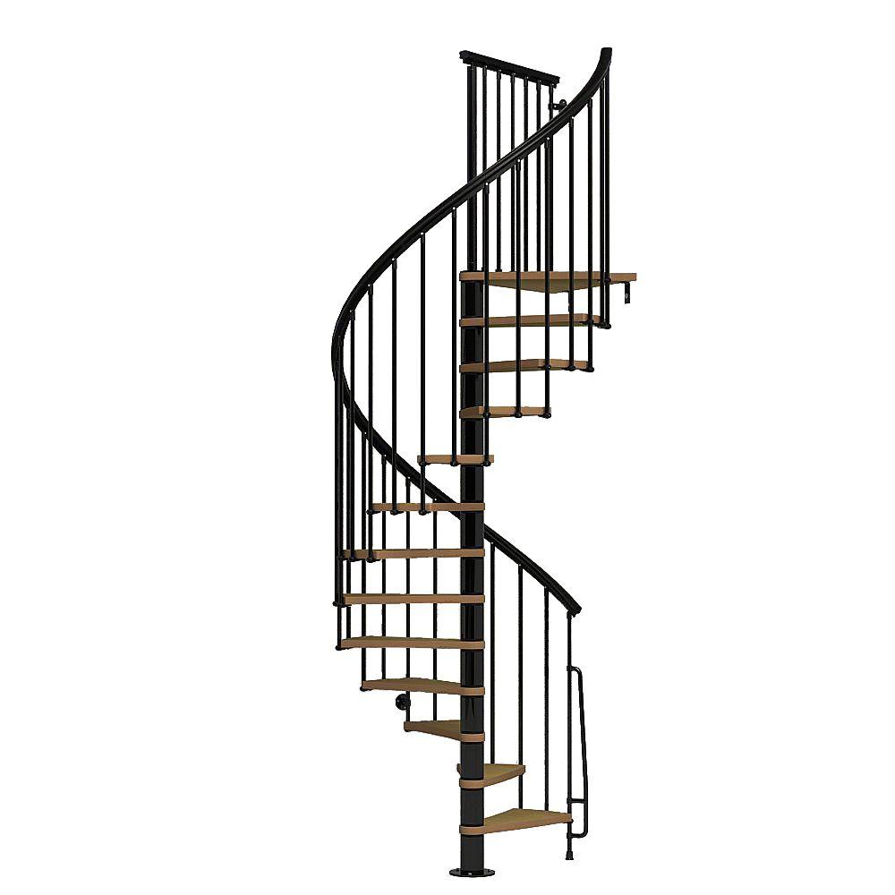 Nice1 51 in. Black Spiral Staircase Kit