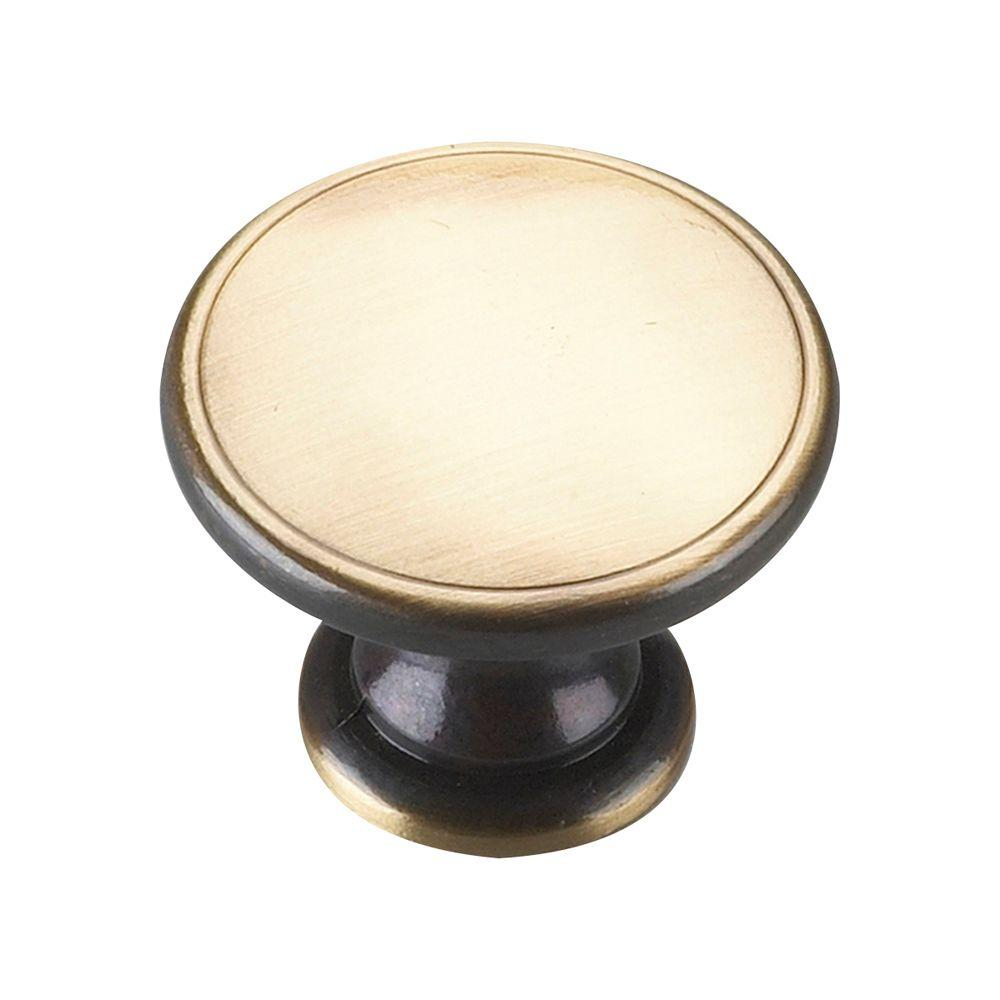 1-3/4 in. Burnished Brass Cabinet Knob