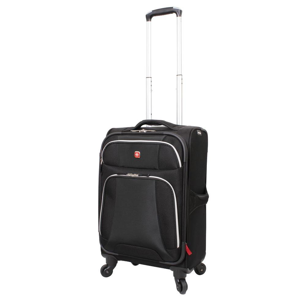 Monte Leone 20 in. Black Spinner Suitcase