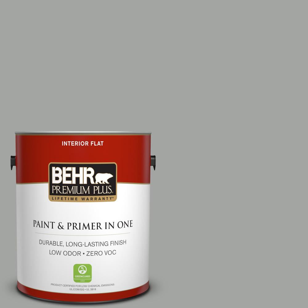 1 gal. #PPU24-18 Great Graphite Zero VOC Flat Interior Paint