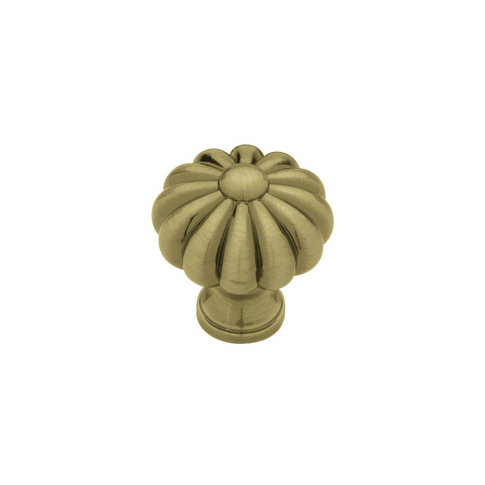 Liberty 1-3/8 in. Bronzed Antique Melon Cabinet Knob-PN0624V-BZA-C - The Home