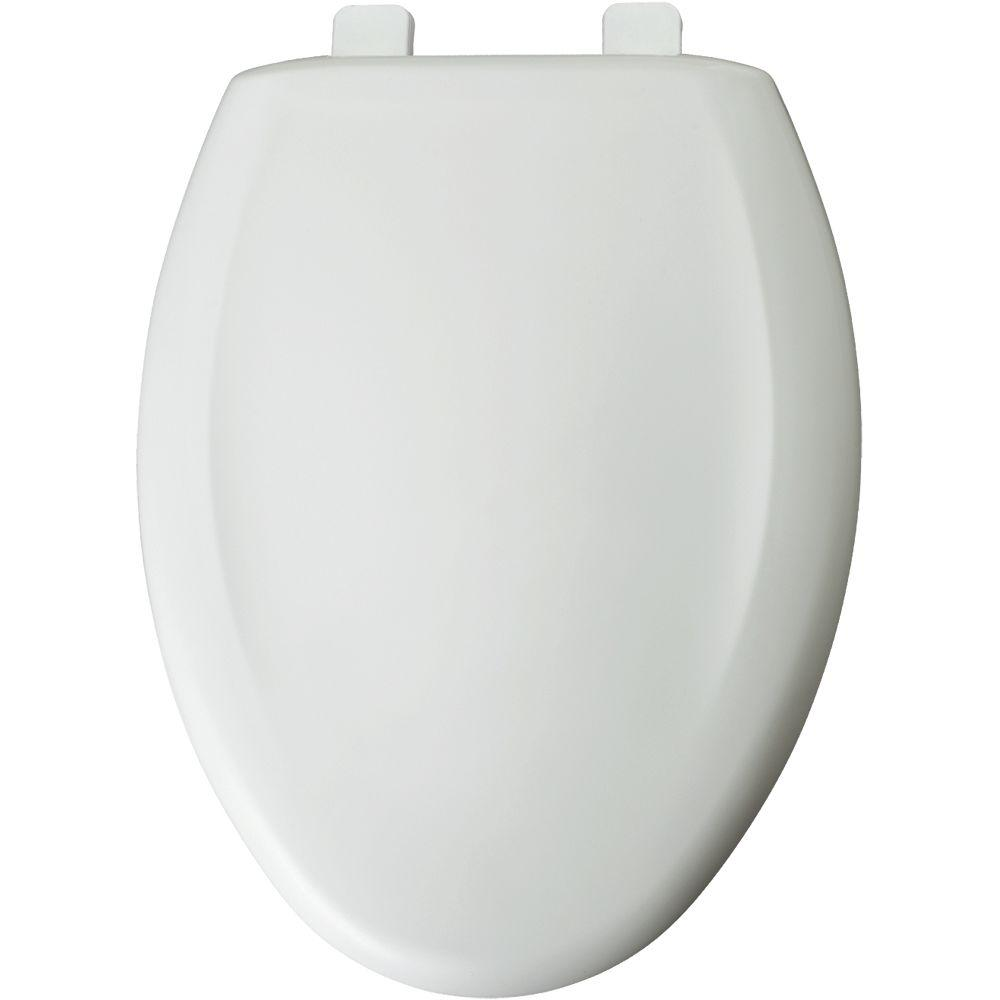 Elongated Closed Front Toilet Seat in Crane White