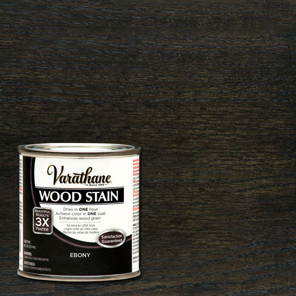 Varathane 1/2 pt. Ebony Wood Stain-266266 - The Home Depot