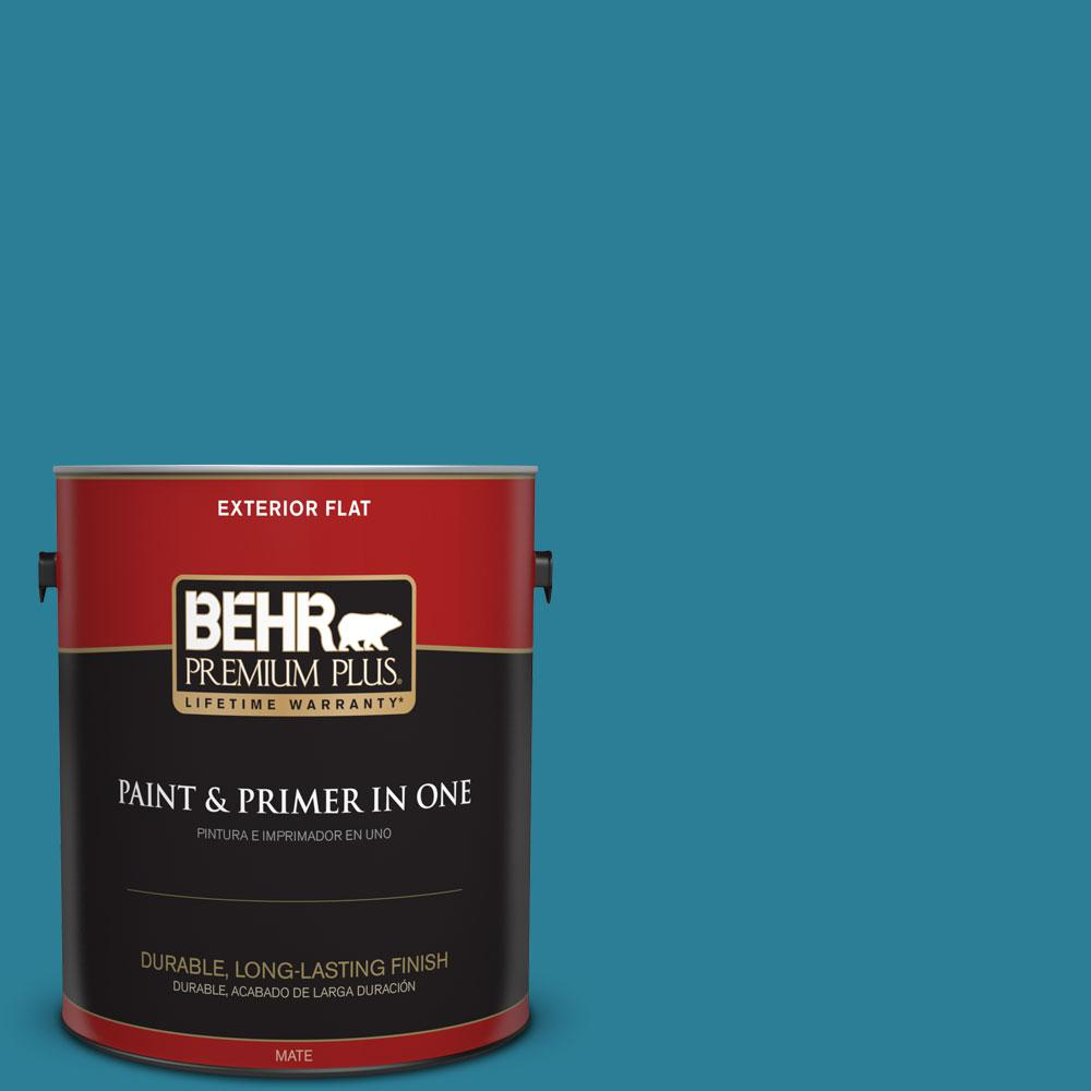 1-gal. #M480-6 Valley of Glaciers Flat Exterior Paint