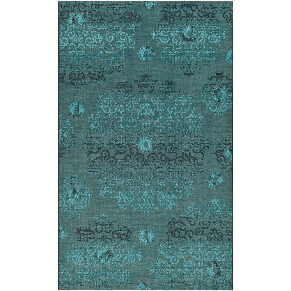 Safavieh Palazzo Black/Turquoise 8 ft. x 11 ft. Area Rug-PAL129-56C4-8 -