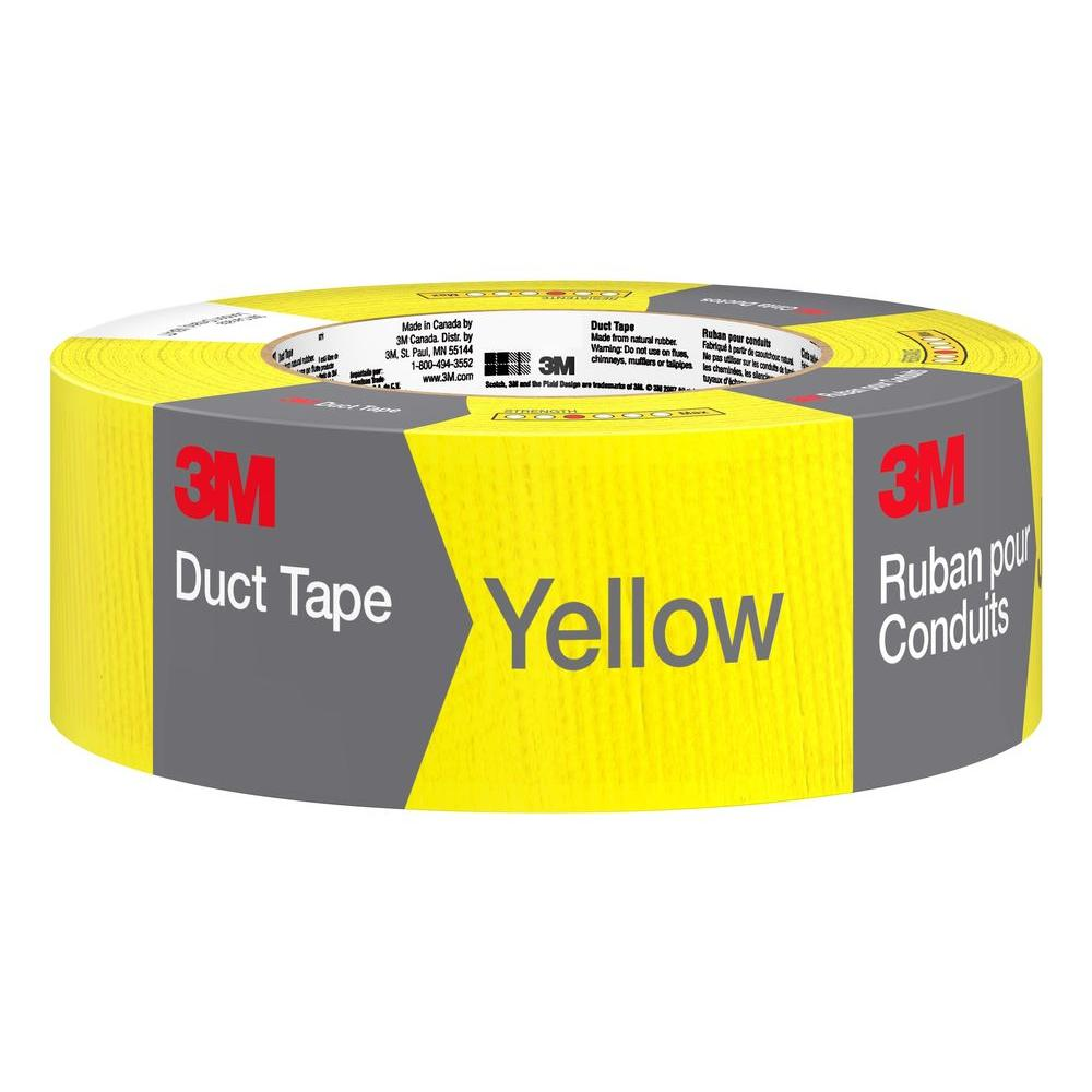 3M 1.88 in. x 20 yds. Yellow Duct Tape (Case of
