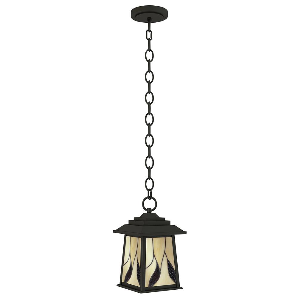 Geologic 1-Light Outdoor Oil Rubbed Bronze Hanging Pendant