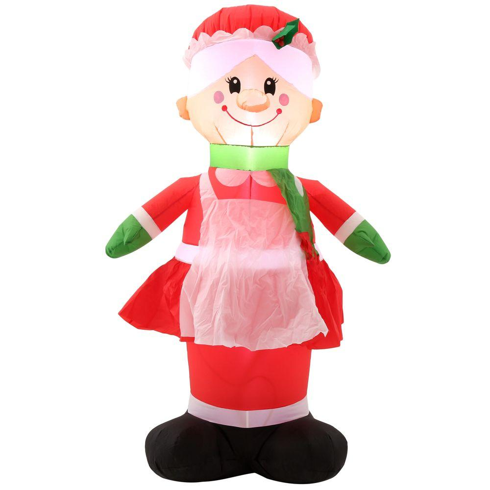 Home accents holiday ft h inflatable mrs claus