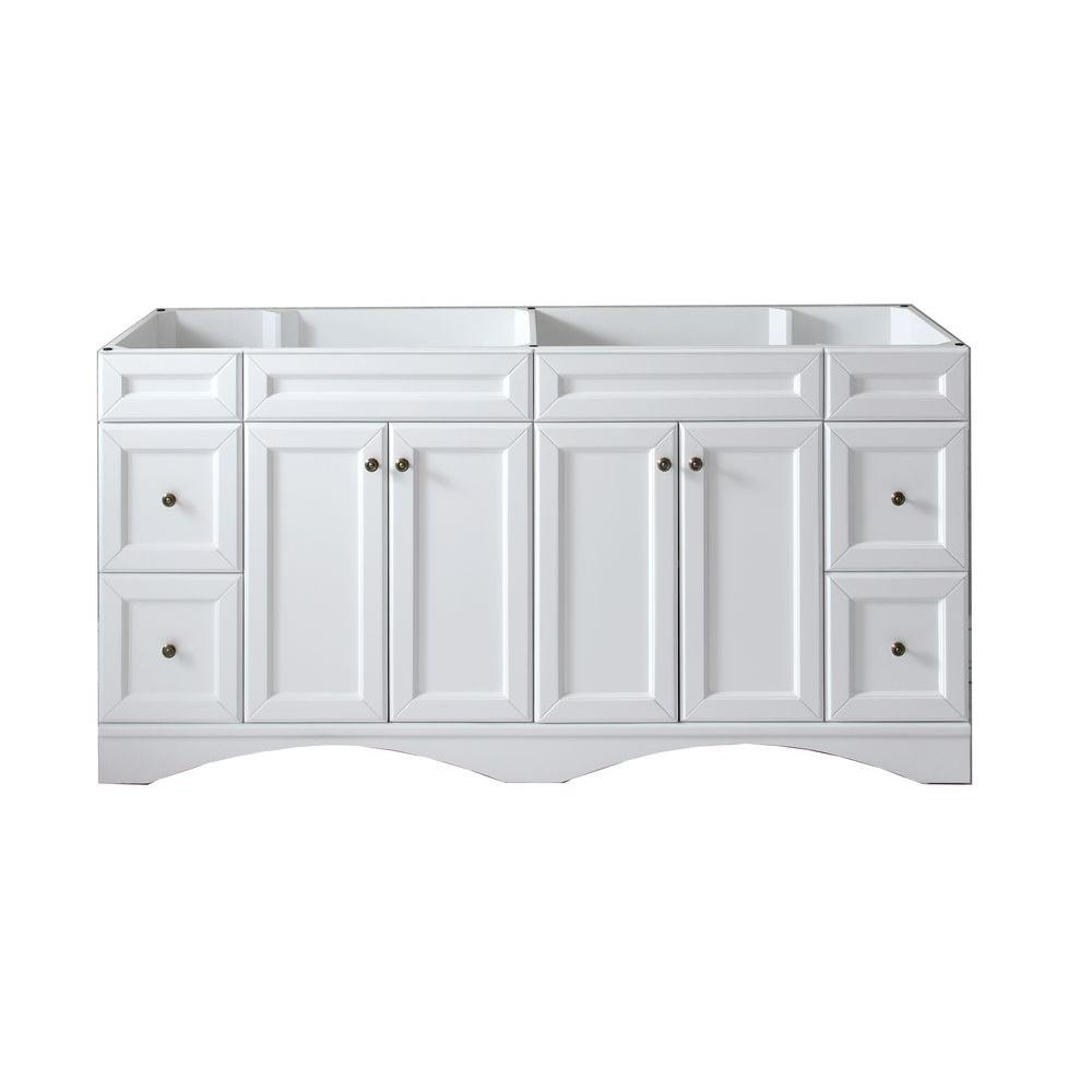 Virtu USA Talisa 72 in. W x 22 in. D x 35.24 in. H Vanity Cabinet Only in White