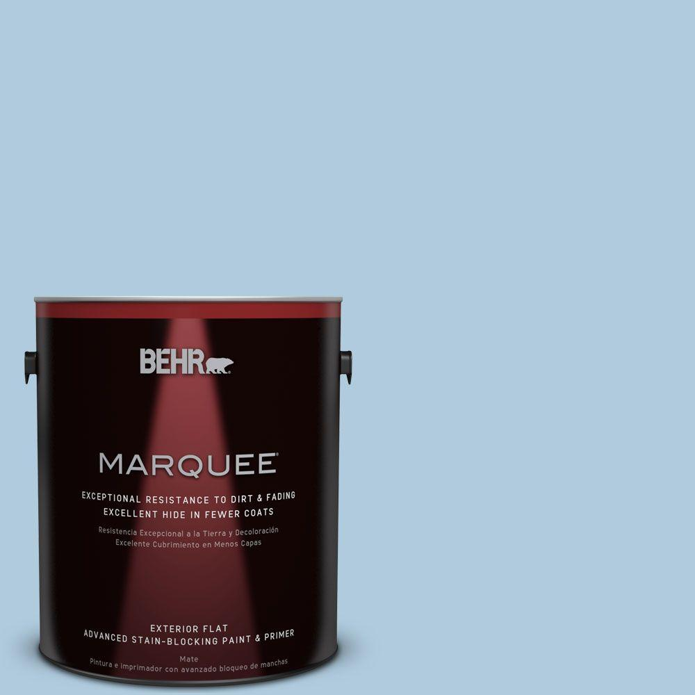 BEHR MARQUEE 1-gal. #S500-2 Essex Blue Flat Exterior Paint-445001 - The