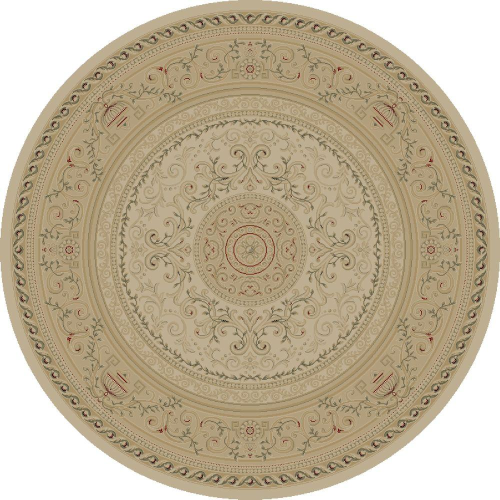 Concord Global Trading Imperial Savonnerie Ivory 5 ft. 3 in. Round