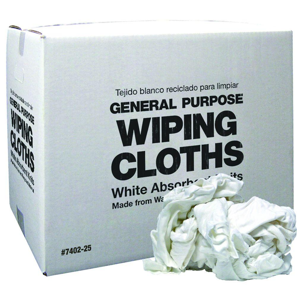 20 lbs. White Recycled Rags Box