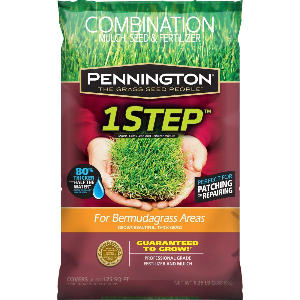 Pennington 6.25 lb. 1 Step for Bermudagrass Areas with Mulch, Grass Seed, Fertilizer Mix