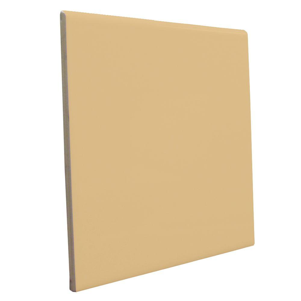 U.S. Ceramic Tile Color Collection Bright Camel 6 in. x 6 in. Ceramic Surface Bullnose Wall Tile-DISCONTINUED